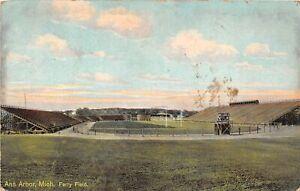H90/ Ann Arbor University of Michigan Postcard c1910 Ferry Football Stadium4