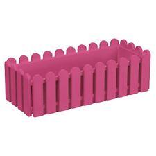 Fioriera rosa in plastica per piante
