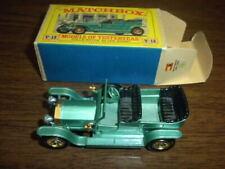 ROLLS ROYCE SILVER GHOST 1907 Y-15 MATCHBOX CAR with BOX - LESNEY ENGLAND