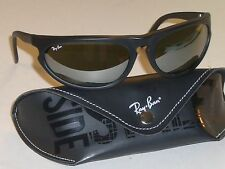 BAUSCH & LOMB RAY BAN W2323 MATTE BLACK G31 MIRROR LENS SKYLINE WRAP SUNGLASSES