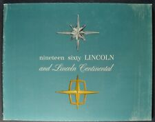 1960 Lincoln Brochure Continental Premiere Sedan Coupe Conv. Limo Nice Original