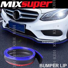 MIXSUPER Rubber Bumper Lip Splitter Chin Spoiler Trim EZ Protector BLUE for Ford