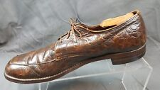 Foot-So-Port Supreme Brown Crocodile/Alligator Print? Men's US12.5AA EU 45.5