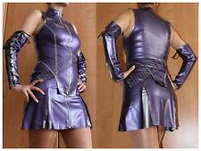 Latex-Set Latexrock Latextop Armstulpen lila/grau