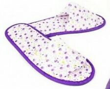 Stylish Ladies Lilac Floral slippers By Glamour Essentials UK Adult Size 3 - 4