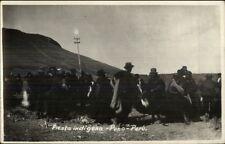 Fiesta Indigena Puno Peru Natives Real Photo Postcard