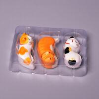 3Pcs Japanese Lucky Cat Porcelain Chopstick Rest Rack Stand Fork Ceramic Holder