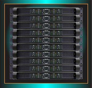 BORTEC LAB 1U 4/ch 5600W 110v POWER AMPLIFIER for LINE ARRAY POWERSOFT STARTUP