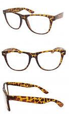 BIG Tortoiseshell Brown Clear Lenses Glasses Retro Geek Nerd Vintage Style RF02
