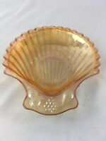 Vintage CARNIVAL GLASS Clam Shell Seashell Shaped Dish