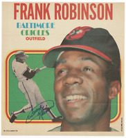 Frank Robinson signed autographed Topps poster! RARE! AMCo Authenticated!
