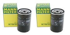 NEW Pair Set of 2 Oil Filter Mann W 719/13 For Mercedes W124 W126 V124 A124 W201