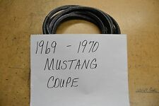 PINCH ON BLACK WINDLACE 1969 69 1970 70 FORD MUSTANG COUPE 16 FEET SNAP ON