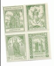 Great Britain Scottish Sunday School stamps 1890 se-tenant block 4 Cambuskenneth