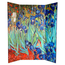 Room Divider Screen Shoji Oriental 4 Folding Panel Double Sided Privacy Room New