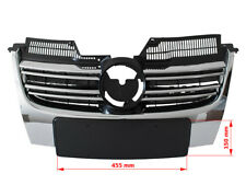 FRONT GRILLE CHROME - NARROW NUMBER PLATE FOR VW GOLF MK5 V 05-10 ESTATE COMBI