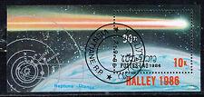 Laos Space Astronomy Comet Halley apparition Orbits Souvenir Sheet 1986