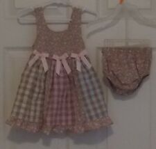Bonnie Baby Spring Dress & Bottoms Panty Size 18 M