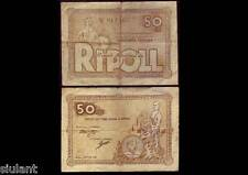 BILLETE LOCAL - RIPOLL. 50 CTS. AÑO 1937 - SERIE C -  BC