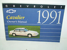 1991 Chevrolet Cavalier Owners Manual