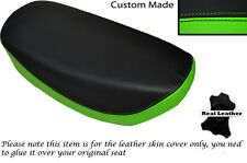 GREEN & BLACK CUSTOM FITS HONDA DAX CT ST 70 DUAL LEATHER SEAT COVER ONLY