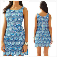 New Lilly Pulitzer $298 Aralyn Shell Eyelet Shift Dress Beach Authentic