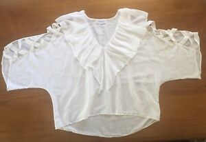 • Coast By Kate Campbell • Fabulous Ivory Silk Top • Size L