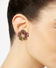 Betsey Johnson Gold-Tone Glittery Stone Stud Earrings in Multi 0103