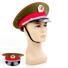 Collection Military officer Captain's Visor Hat Star Chinese Communist Army Cap