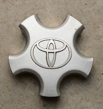 (2) Toyota MR2 OEM Wheel Center Caps 7757 Silver Finish