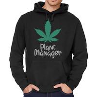 PLANT MANAGER Hanf Hemp THC Cannabis Marihuana Kapuzenpullover Hoodie Sweater