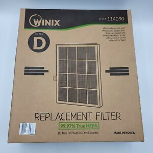 Winix D Ultimate Washable Air Purifier Filter Cassette (114090) New Sealed