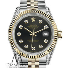 Unisex Rolex 36mm Datejust 2 Tone Chocolate Dial with Diamond Accent Watch