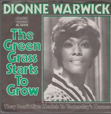 """7"""" Dionne Warwick The Green Grass Starts To Grow / They Don`t Give Medals 60s"""