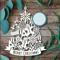 Christmas Tree Metal Cutting Dies Stencil Scrapbook Embossing Paper Craft Mold