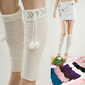 Women  LEG WARMERS Winter Warm Knit Crochet  Boot Socks L1007