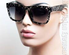 Oversized Large Wayfarer Sunglasses Retro Gradient Smoke Black Tortoise K553 TBK