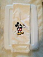 "Vintage 1980's WALT DISNEY Mickey Mouse White 100% Cotton Bath Towel 44"" x 24"""