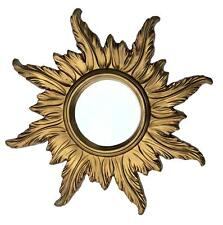 Wall Mirror Baroque Antique Sun Round Mirror IN Gold 56x56 CM Repro