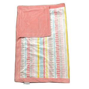The Peanut Shell Baby Cot Blanket Mink Pink Patterned Near New Plush