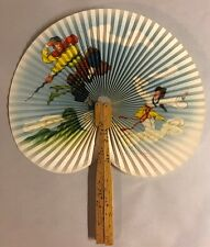 fbb8661153aeb Vintage Japanese Folding Fans Woman Man Clouds Bamboo Japan