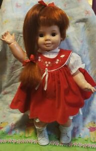 """IDEAL Vintage Baby Crissy Doll Large 24"""" Red Growing Hair Chrissy 1972"""