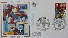 ENVELOPPE PREMIER JOUR - 9 x 16,5 cm - ANNEE 2002 - EUROPA - SANDRA JAYAT