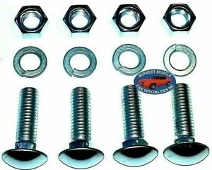 """Ford 7/16x1-1/2"""" Stainless Capped Round Head Front Rear Bumper Bolt Bolts 4pcs B"""