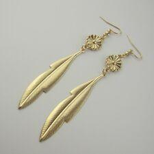 margherita tono oro e foglia orecchini pendenti