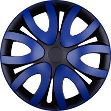 "4x Premium Diseño Tapacubos"" Mika ""15 pulgadas #55 en Azul Negro"