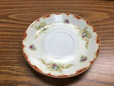 Vintage Occupied Japan Mira China  Saucer  (NO cup)  Floral Gold Trim