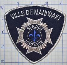 CANADA, VILLE DE MANIWAKI FIRE SERVICE INCENDIE QUEBEC PATCH