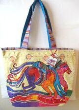 Laurel Burch - Shoulder Tote Bag - Dancing Horses - Discont. Design - NWT