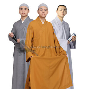 Summer Cotton Buddhist Monk Dress Shaolin Robe Kung fu Uniform Tai Chi Suit